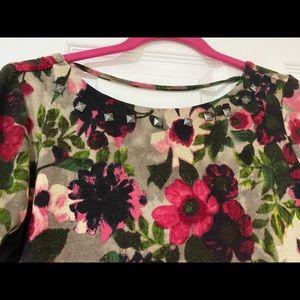 Floral long sleeves dress